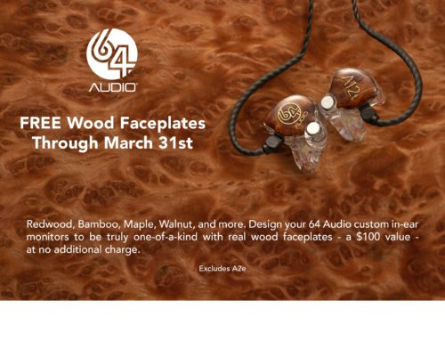 64Audio Wood Special on In-Ear Monitors